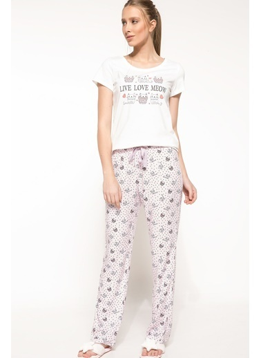DeFacto Pijama Takım Mor